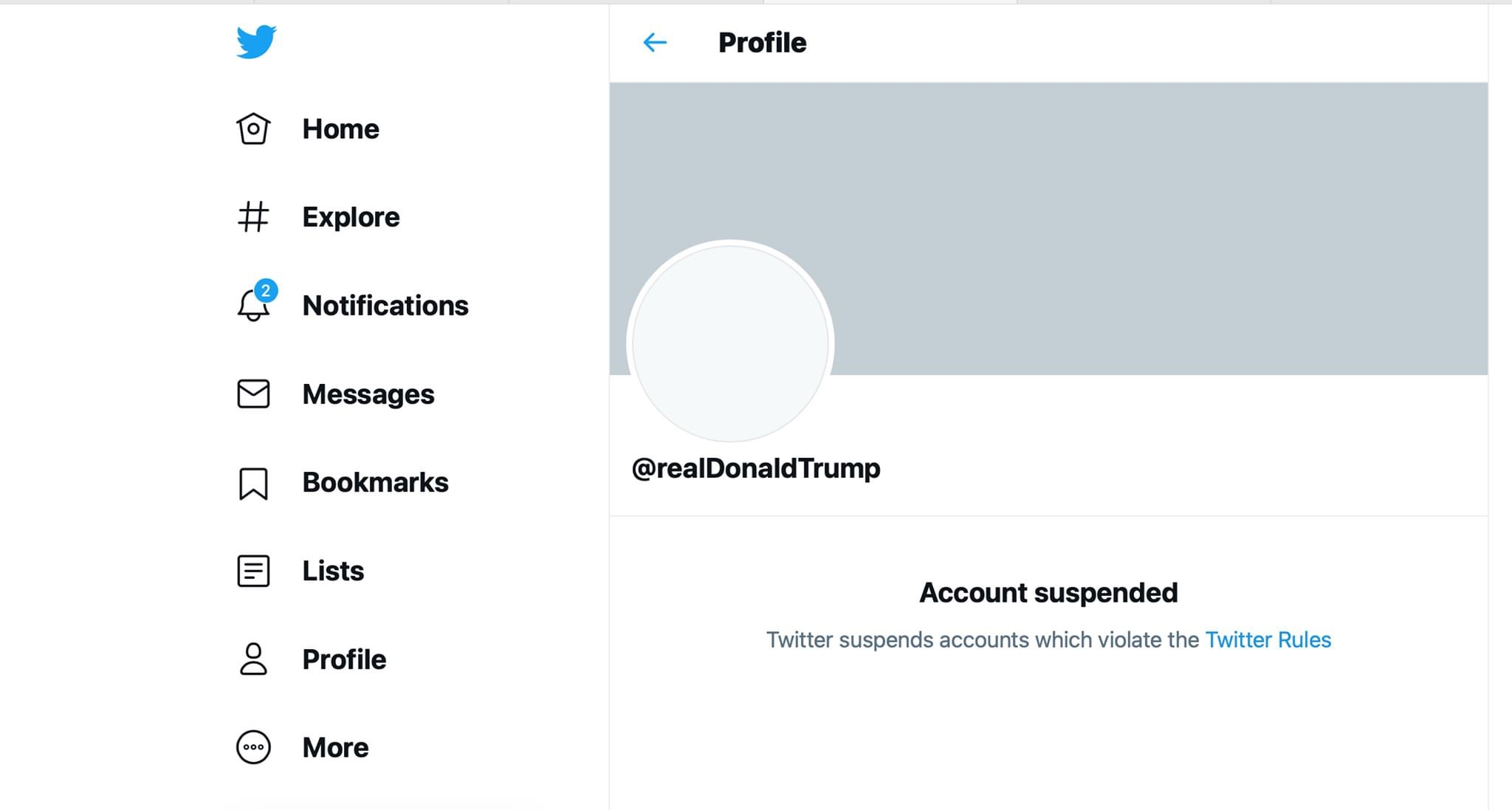 Twitter permanently suspended President Trump's account.
